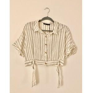 ZARA Rustic Cropped Shirt